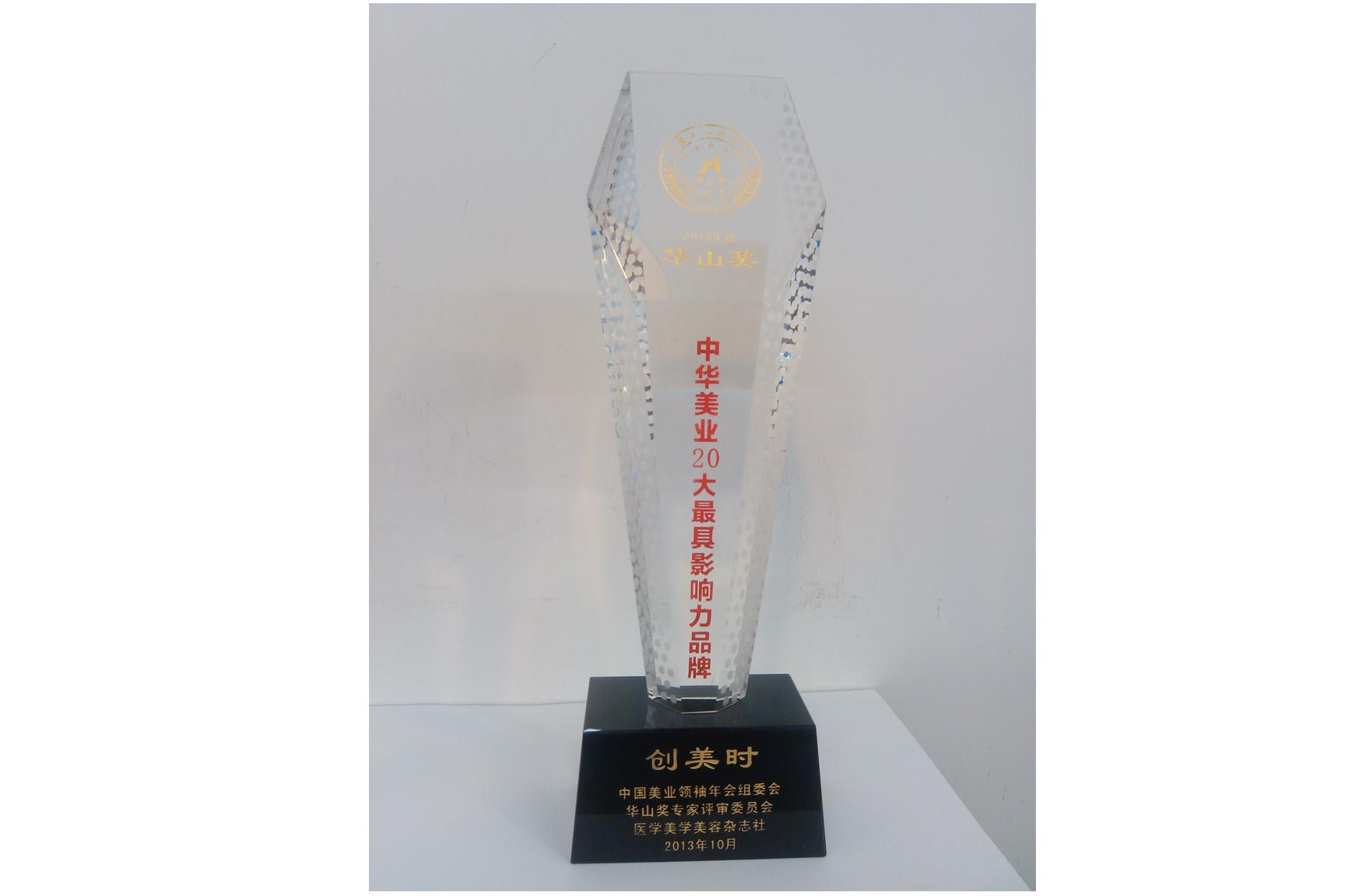 2013年中华美业20大最具影响力品牌